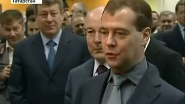 Photos from the heat of the node visited by the President of the Russian Federation Dmitry Medvedev in Naberezhnye Chelny