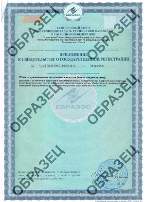 Certificate of registration in the Customs Union p. 2